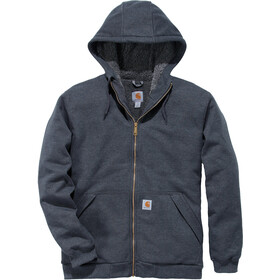 Carhartt Sherpa-Lined Midweight Sudadera Capucha Cremallera Completa Hombre, carbon heather